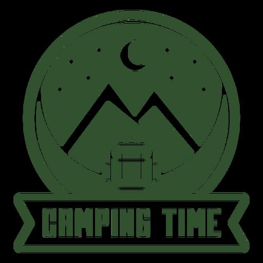 Insignia de montaña mochila de tiempo de campamento Transparent PNG