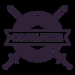 Insignia de escudo de espadas de cosmaker