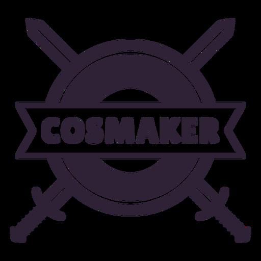 Distintivo de escudo de espadas Cosmaker