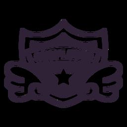 Cosplayer wings star badge