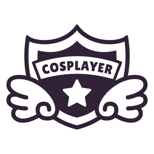 Emblema de estrela de asas de cosplayer