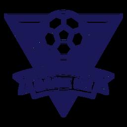 Jogo no emblema do triângulo de handebol