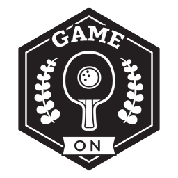 Game on racket branches badge