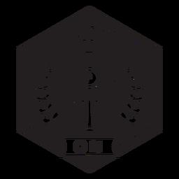 Jogo no emblema de ramos de raquete