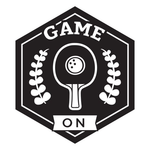 Game on racket branches badge Transparent PNG