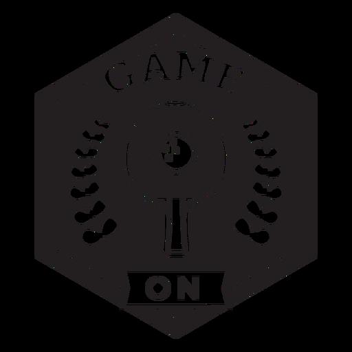 Juego en insignia de ramas de raqueta Transparent PNG