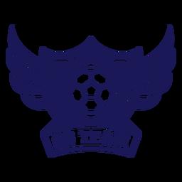 Ir emblema de asas de handebol de equipe