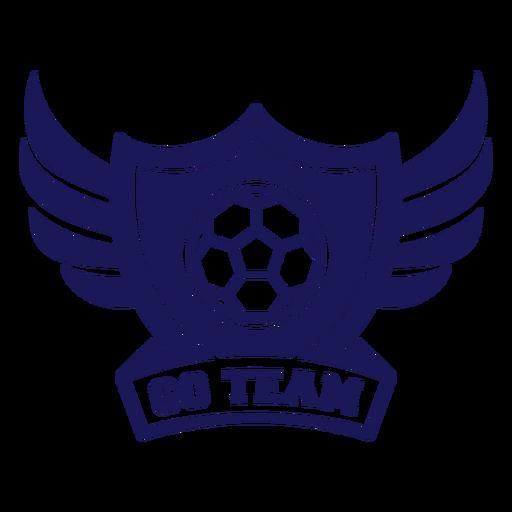 Ir insignia de alas de balonmano del equipo Transparent PNG