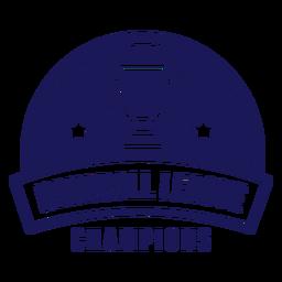 Distintivo dos campeões da liga de handebol