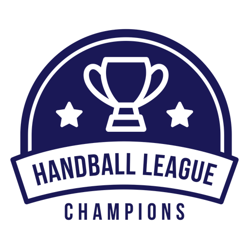 Insignia de campeones de la liga de balonmano Transparent PNG