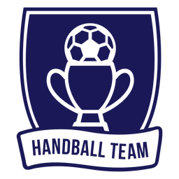Handball team cup ball badge