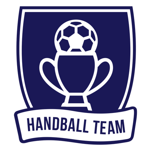 Insignia de balón de copa de equipo de balonmano Transparent PNG