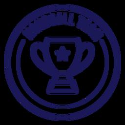 Handball team cup star badge