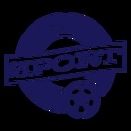 Distintivo de esporte de equipe de handebol