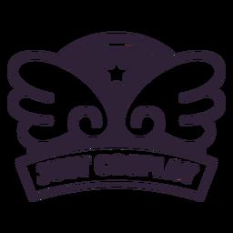 Solo insignia de alas de cosplay