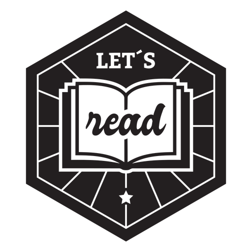 Let's read book badge Transparent PNG