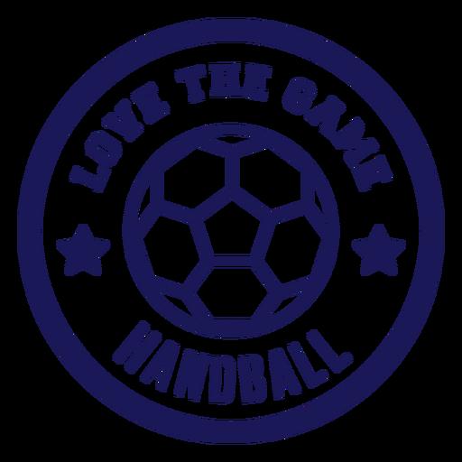 Amo la insignia del balonmano del juego