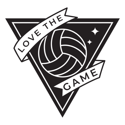 Love the game volleyball badge