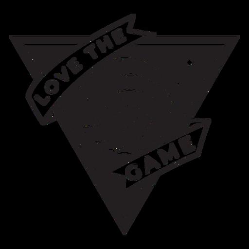 Me encanta la insignia de voleibol del juego Transparent PNG