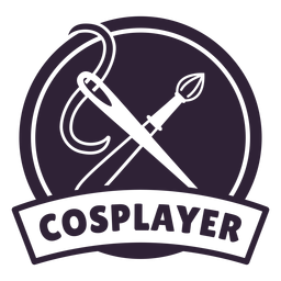 Insignia de cosplayer de aguja de pincel