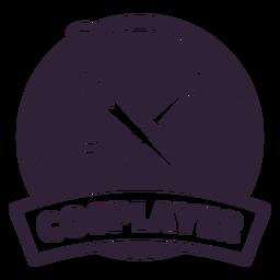 Paintbrush needle cosplayer badge