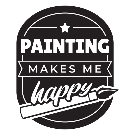 Painting makes me happy badge