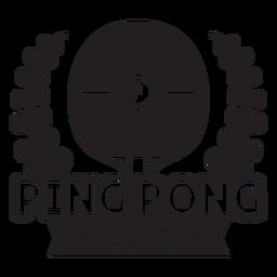 Distintivo de filiais do clube de ping pong