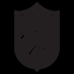 Jugar en la insignia de ping pong