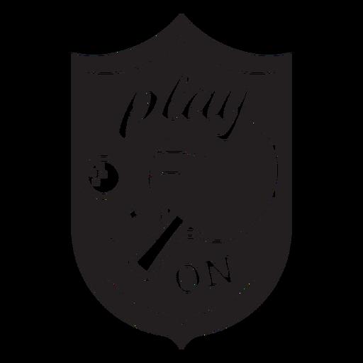 Play on ping pong badge