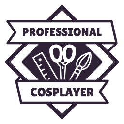 Professional cosplayer badge