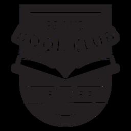 Crachá orgulhoso do membro do clube do livro