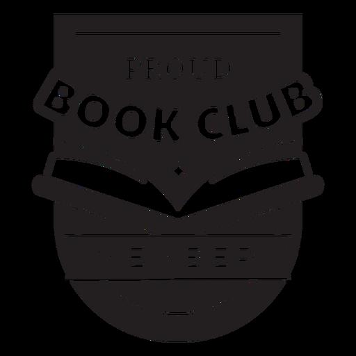 Proud book club member badge Transparent PNG