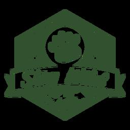 Stay wild footprint mountain badge
