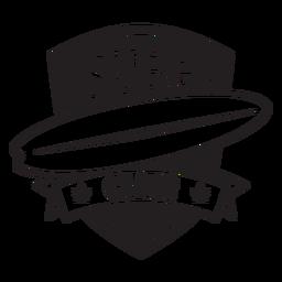 Distintivo de prancha de surf club ribbon