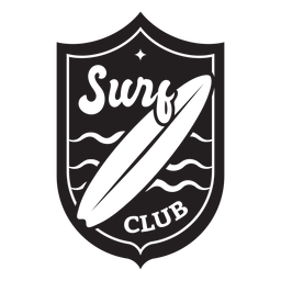 Distintivo de ondas do surf club surfboard