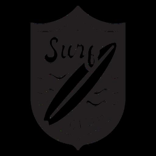 Surf club surfboard waves badge