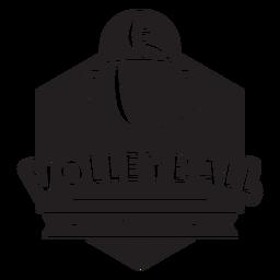 Insignia de campeonato de voleibol
