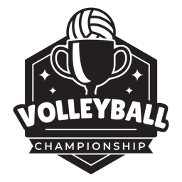 Volleyball championship badge