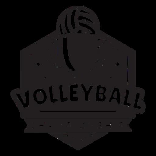 Emblema do campeonato de vôlei Transparent PNG