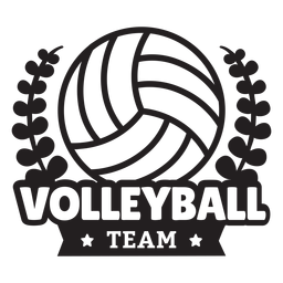Volleyball team branches badge