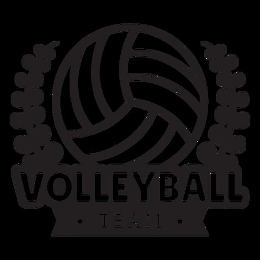 Insignia de ramas del equipo de voleibol