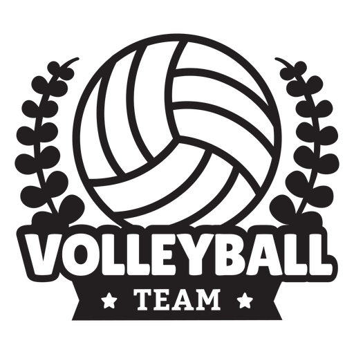 Volleyball team branches badge Transparent PNG