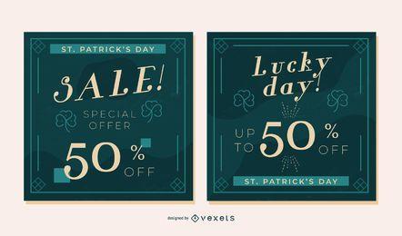 St partick's sale banner set