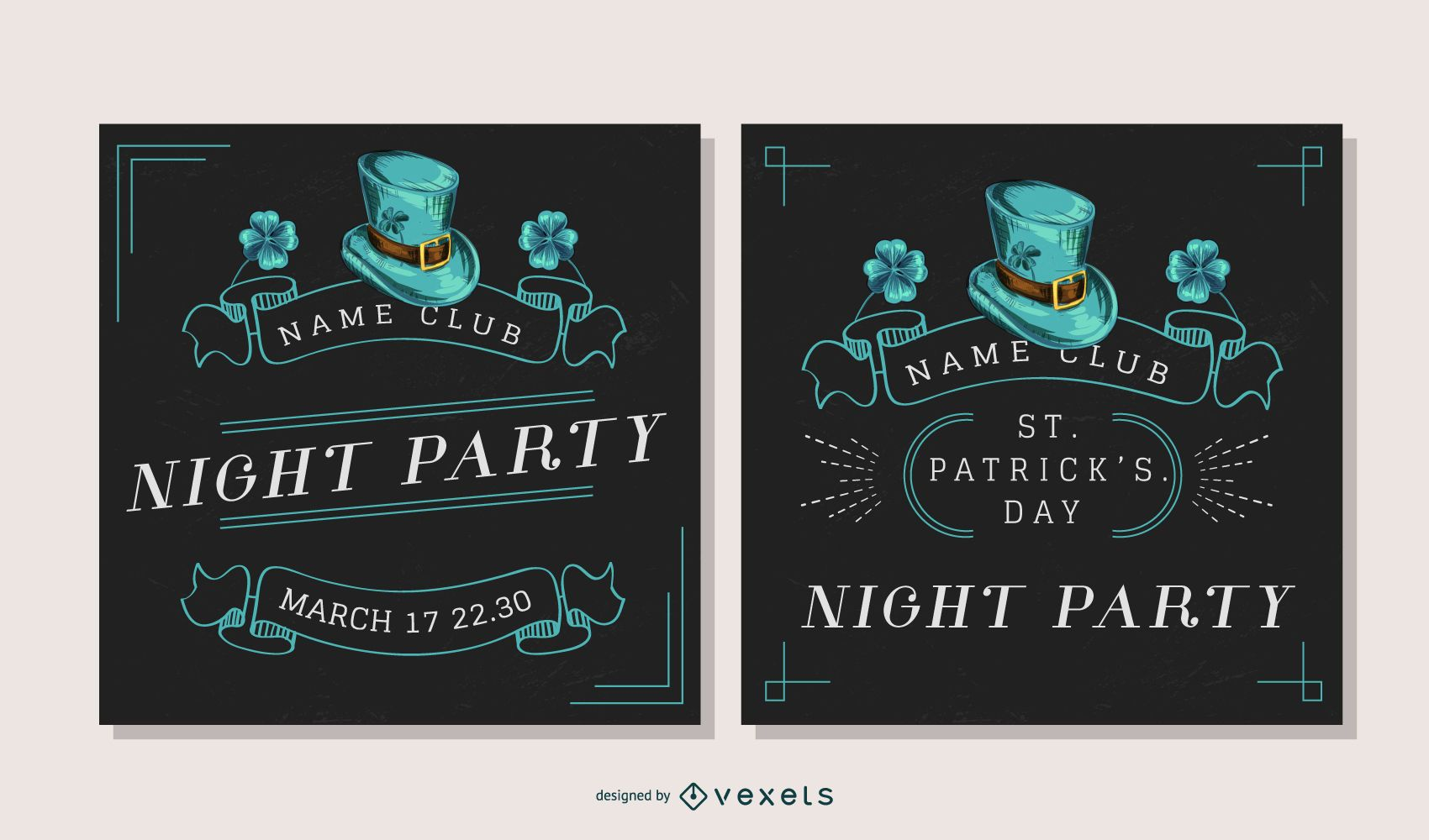 St partick's party banner set