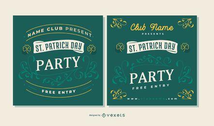 Conjunto de banner de festa do dia do St. partick