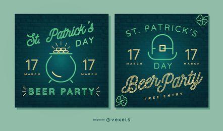 St. Partick's Day Neon Banner festgelegt