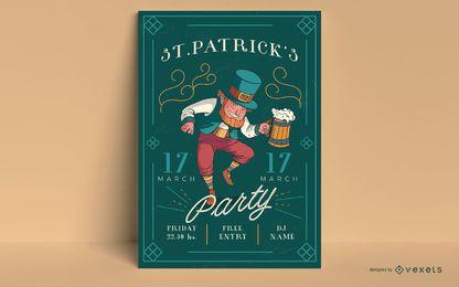 St Patrick Tagesplakatschablone