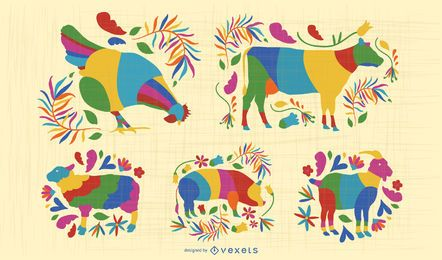 Otomi farm animals set