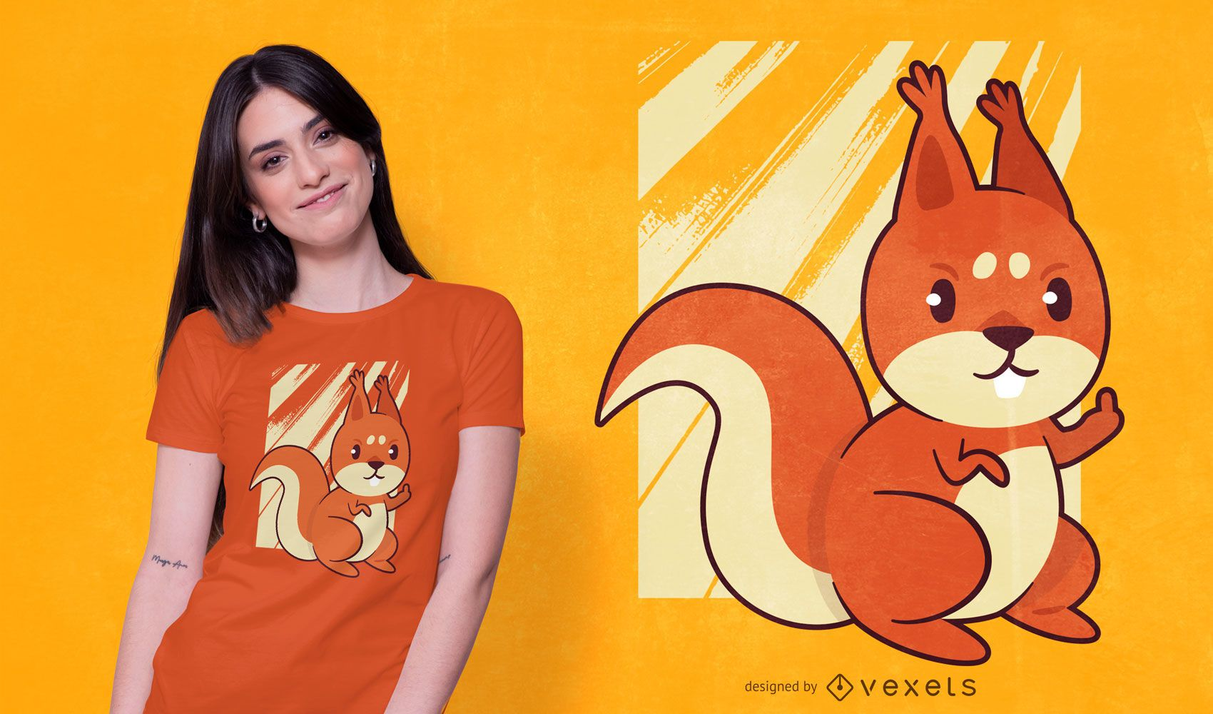 Squirrel middle finger t-shirt design