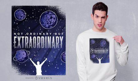 Diseño de camiseta con cita extraordinaria